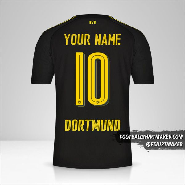 Borussia Dortmund 2016/17 II shirt number 10 your name
