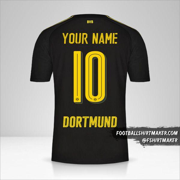 Borussia Dortmund 2016/17 II shirt number 10 your name