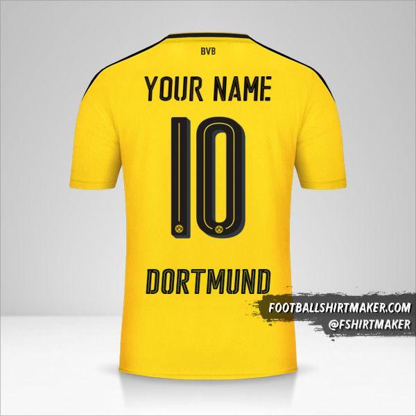 Borussia Dortmund 2016/17 shirt number 10 your name
