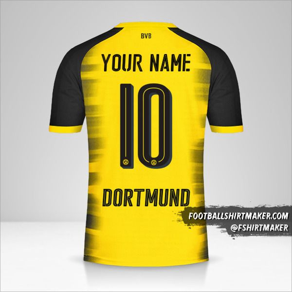 Borussia Dortmund 2017/18 Cup shirt number 10 your name