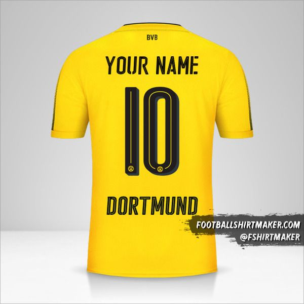 Borussia Dortmund 2017/18 shirt number 10 your name