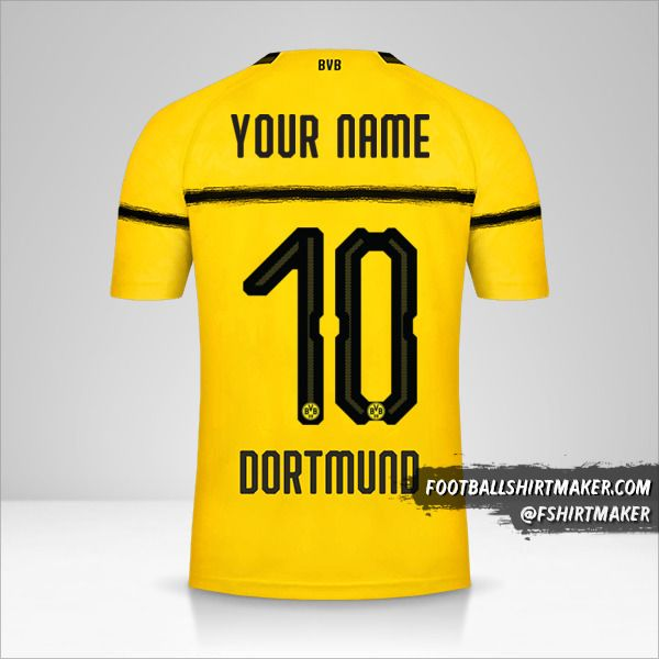 Borussia Dortmund 2018/19 Cup shirt number 10 your name