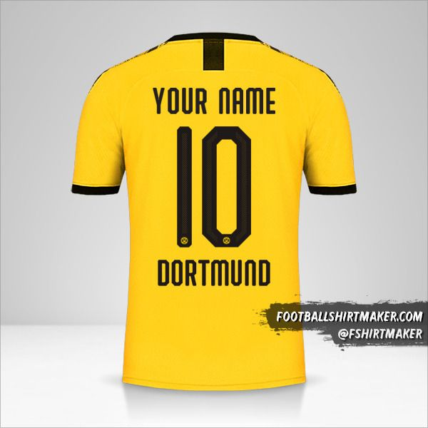 Borussia Dortmund 2019/20 Cup I shirt number 10 your name