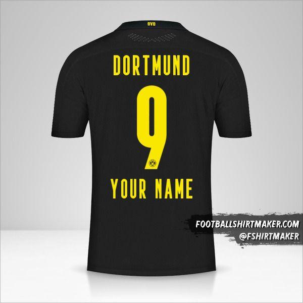 Borussia Dortmund 2020/21 II shirt number 9 your name