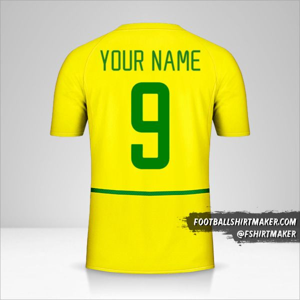 Brazil 2002/04 shirt number 9 your name