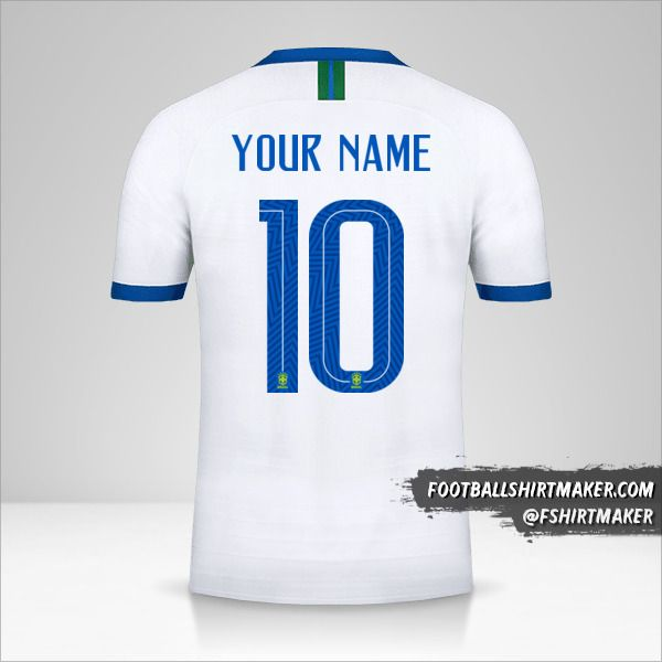 Brazil 2019 III shirt number 10 your name