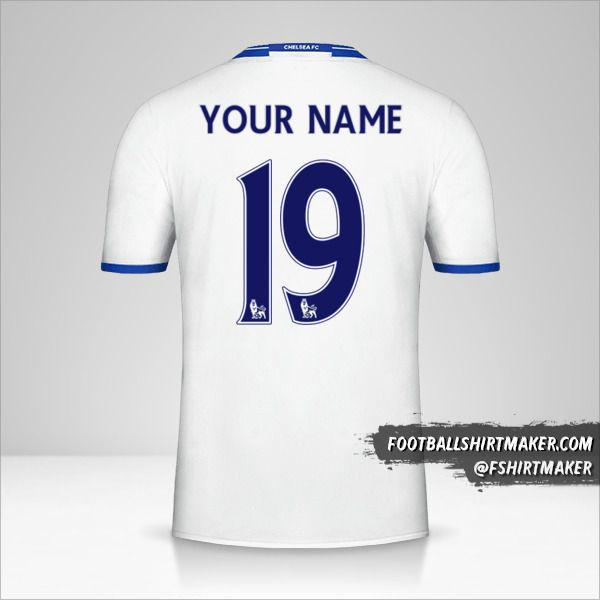 Chelsea 2016/17 III shirt number 19 your name