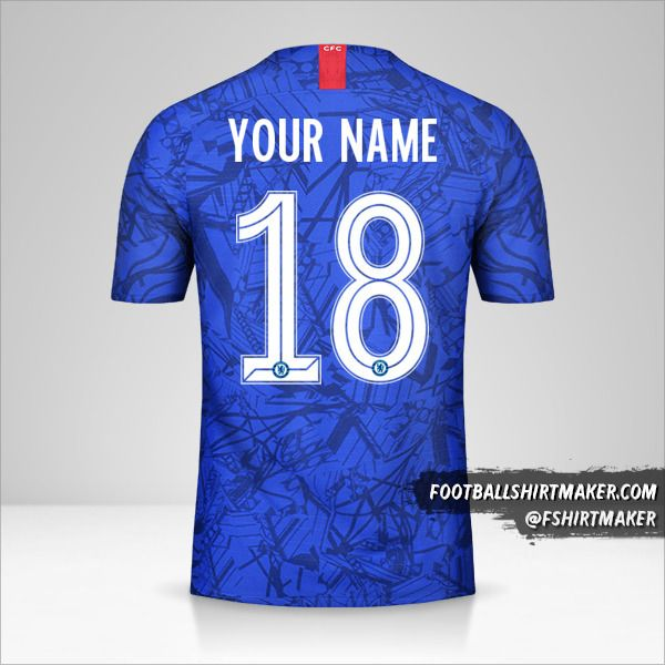 Chelsea 2019/20 Cup shirt number 18 your name