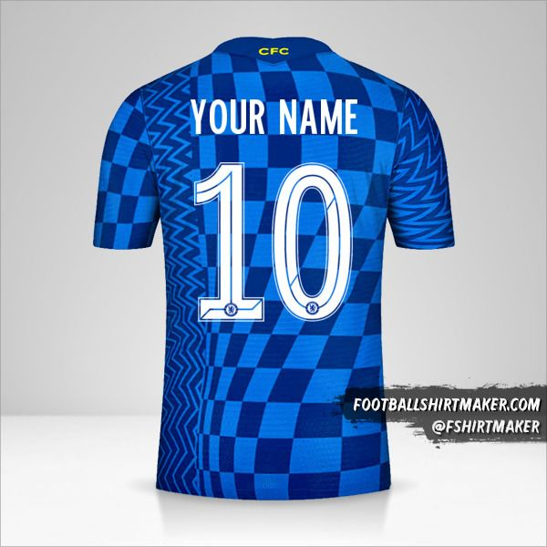 Chelsea 2021/2022 Cup shirt number 10 your name