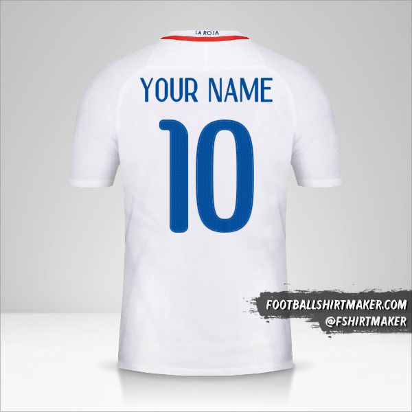 Chile 2016 II shirt number 10 your name