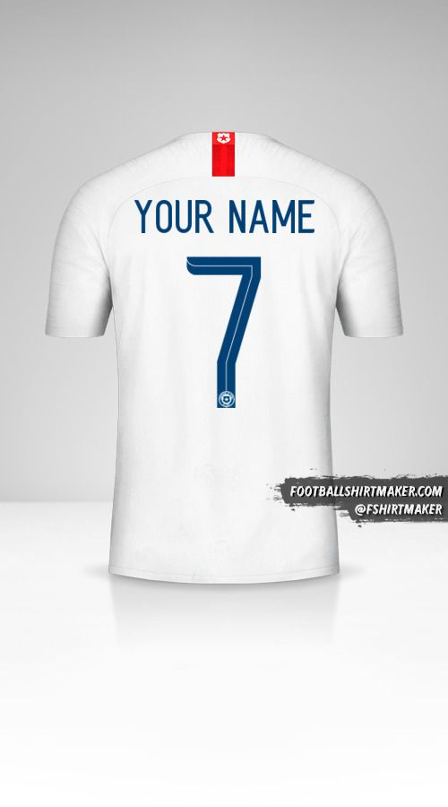 Chile 2018/19 II shirt number 7 your name