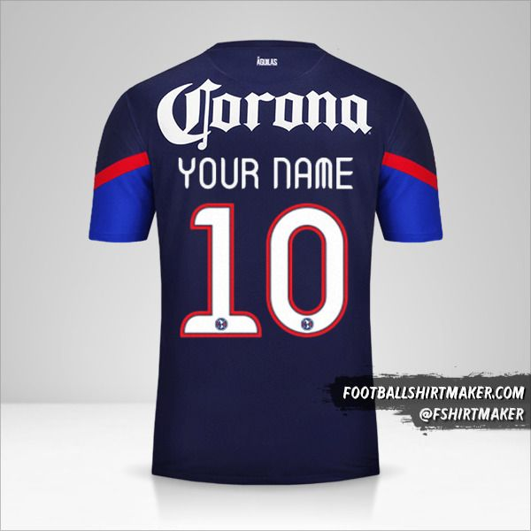 Club America 2012/13 II shirt number 10 your name