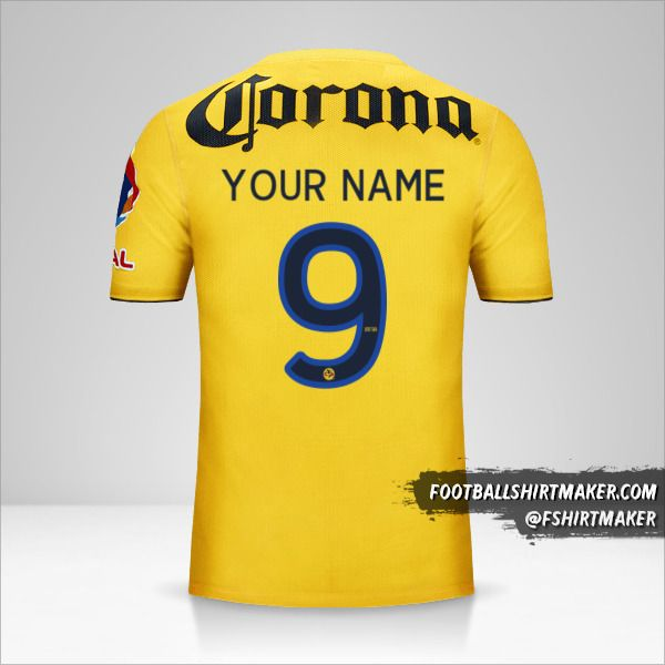 Club America 2013/14 shirt number 9 your name