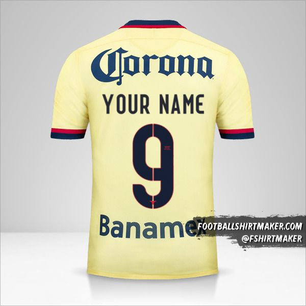 Club America 2015/16 shirt number 9 your name