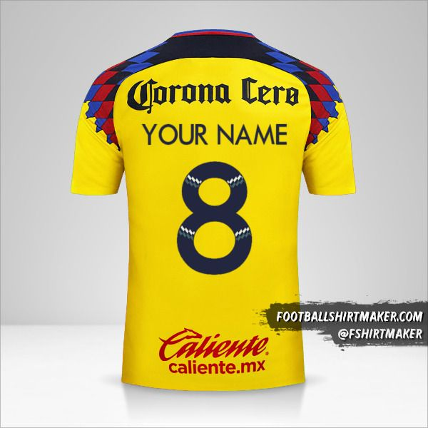 Club America 2017/18 III shirt number 8 your name
