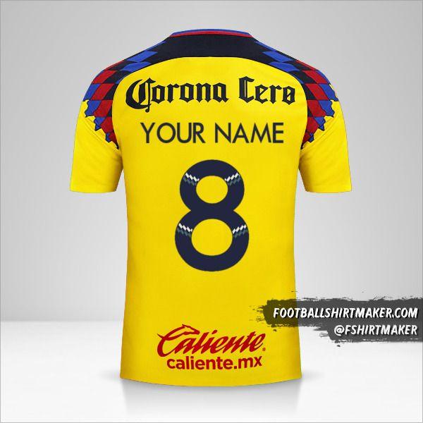 Club America 2017/18 III shirt number 8 your name