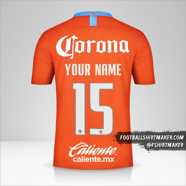 Club America 2018/19 III shirt number 15 your name