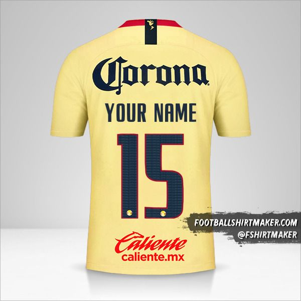 Club America 2018/19 shirt number 15 your name