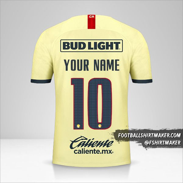 Club America 2019/20 shirt number 10 your name