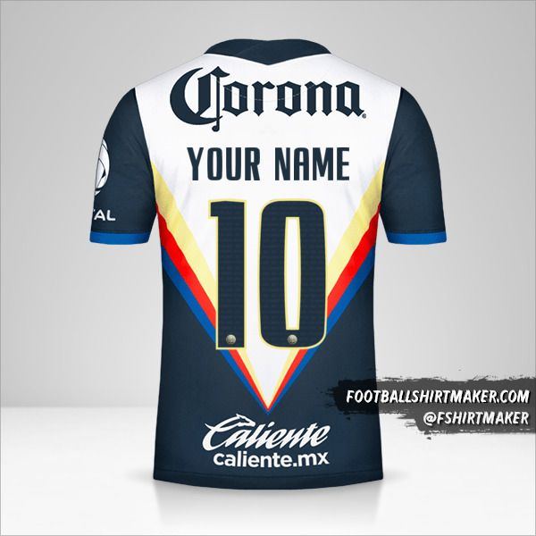 Club America 2020/21 II shirt number 10 your name