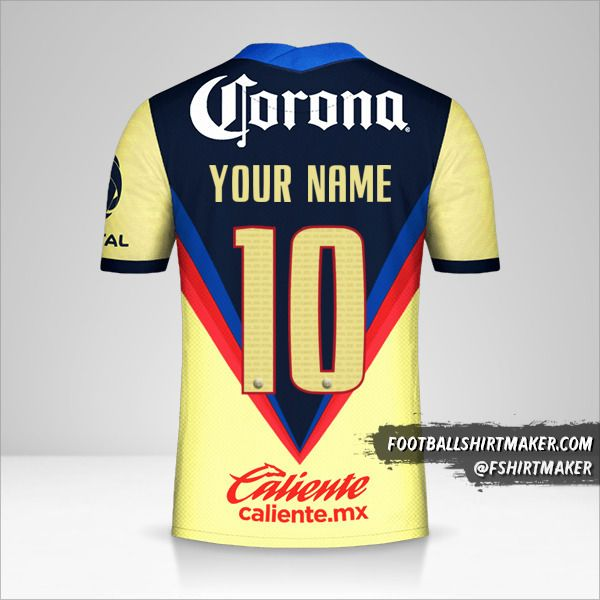 Club America 2020/21 shirt number 10 your name