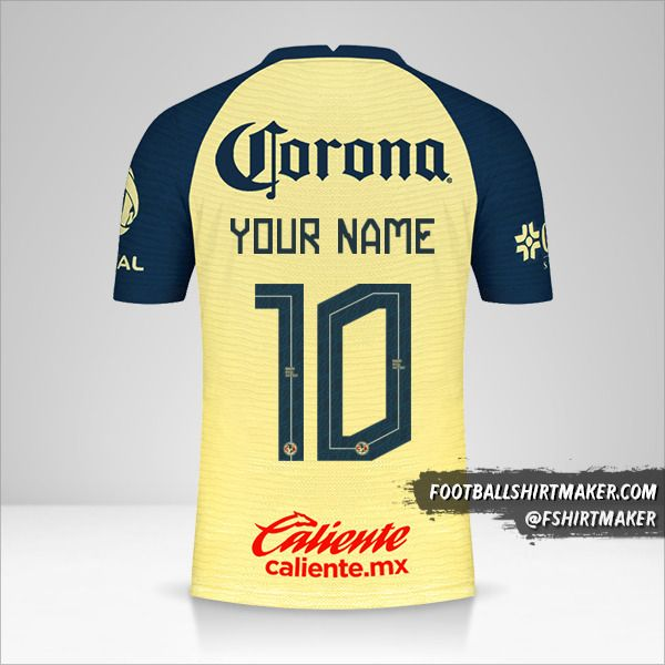 Club America 2021/2022 shirt number 10 your name