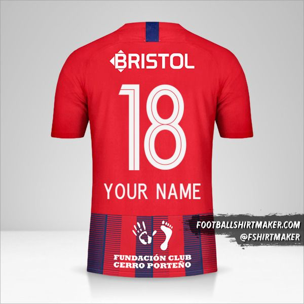 Club Cerro Porteño shirt 2019 number 18 your name
