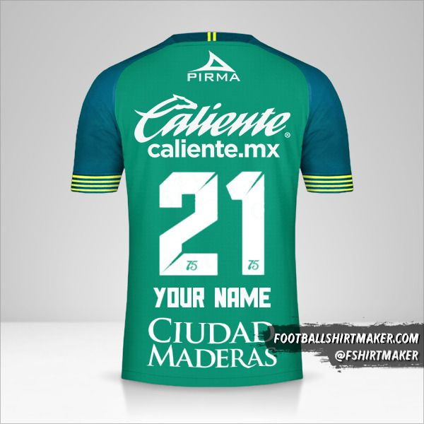 Club Leon 2019/20 shirt number 21 your name