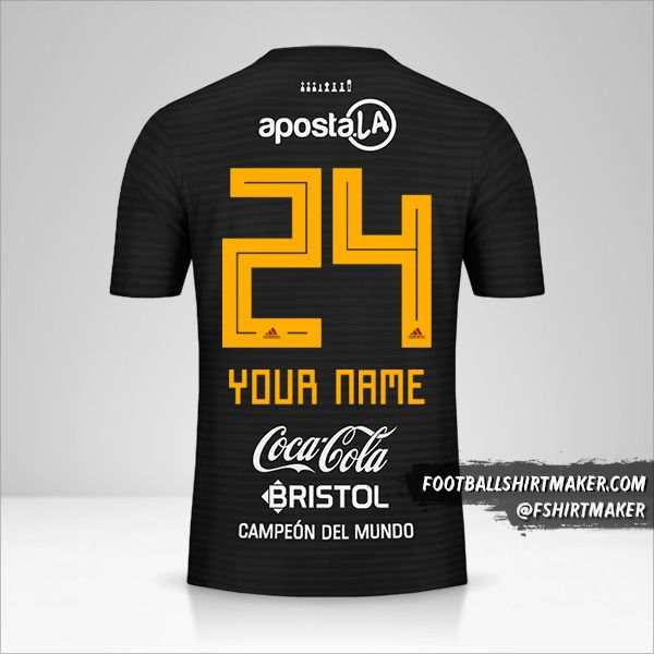 Club Olimpia shirt 2018/19 II number 24 your name