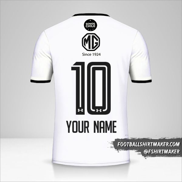 Colo Colo 2018 shirt number 10 your name