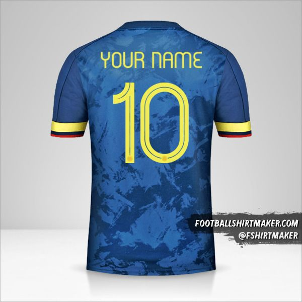 Colombia 2020/21 II shirt number 10 your name
