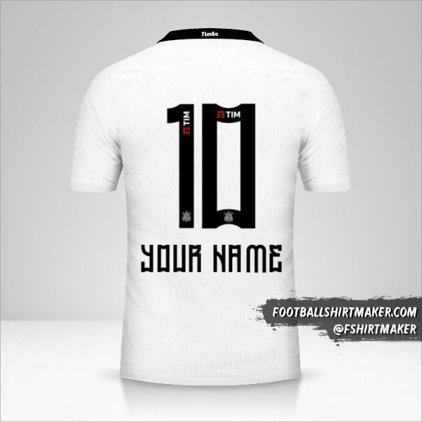 Corinthians 2016 shirt number 10 your name