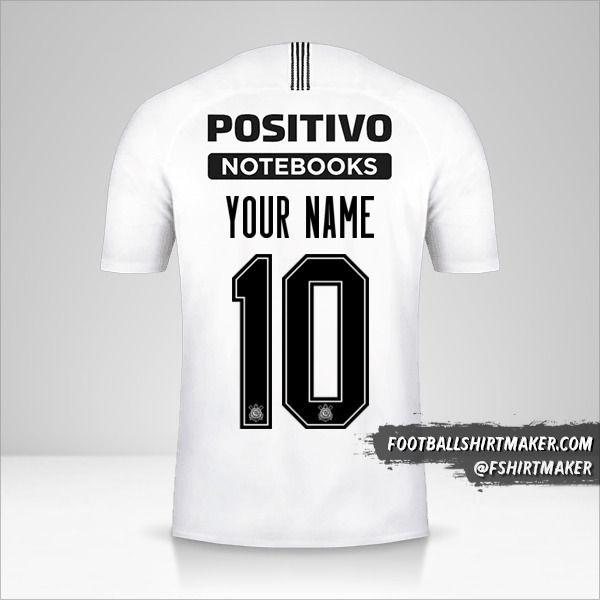 Corinthians Sudamericana 2019 shirt number 10 your name