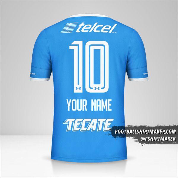 Cruz Azul 2016/17 shirt number 10 your name