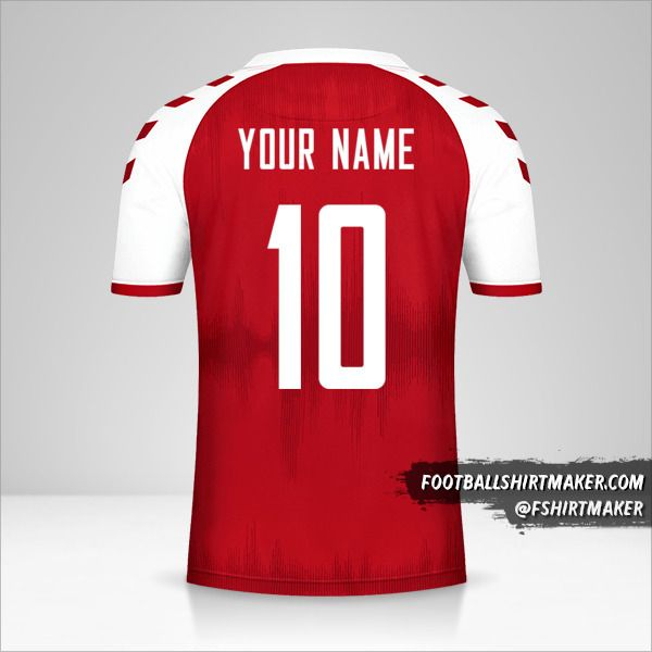 Denmark 2021 shirt number 10 your name
