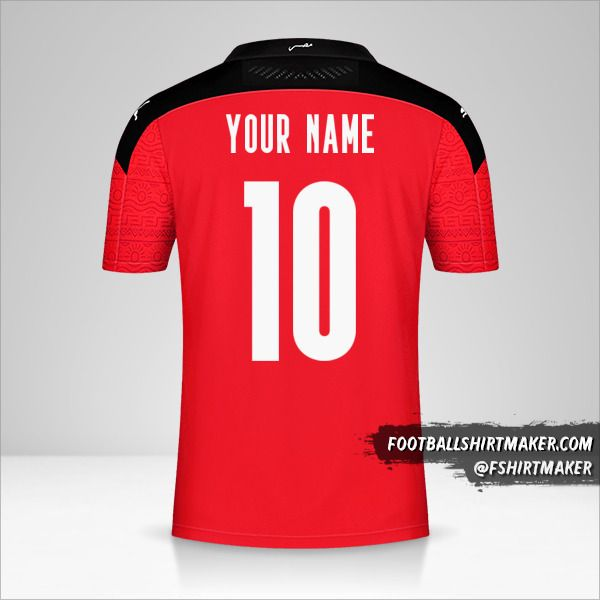 Egypt 2020/2021 shirt number 10 your name