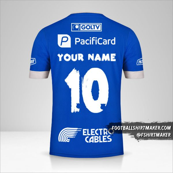 Emelec 2020 shirt number 10 your name