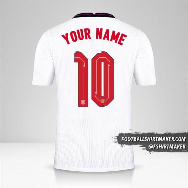 England 2020/2021 shirt number 10 your name