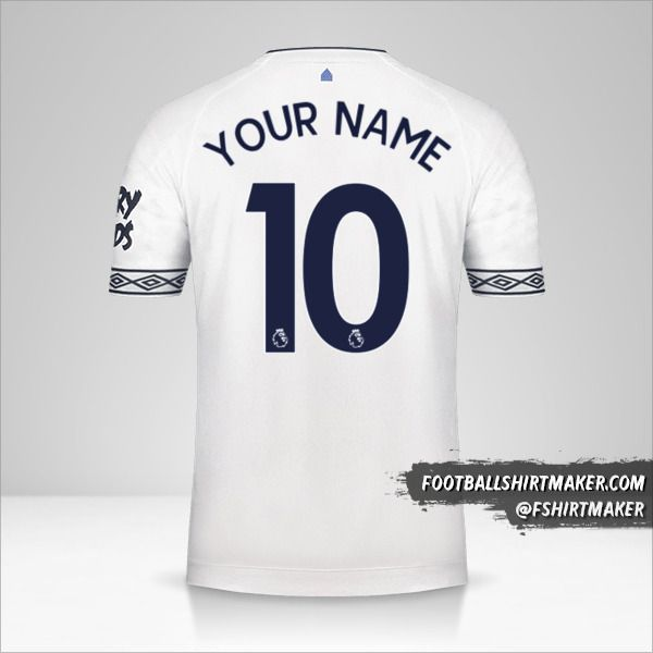 Everton FC 2018/19 III shirt number 10 your name