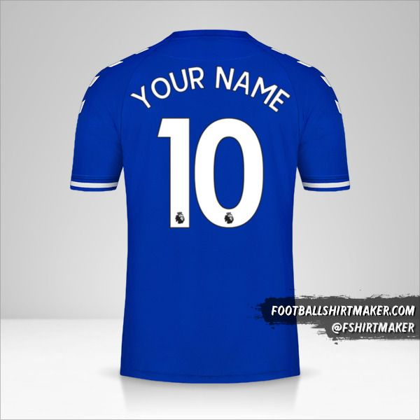 Everton FC 2020/21 shirt number 10 your name