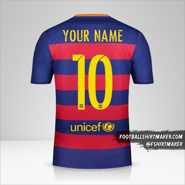 FC Barcelona 2015/16 shirt number 10 your name