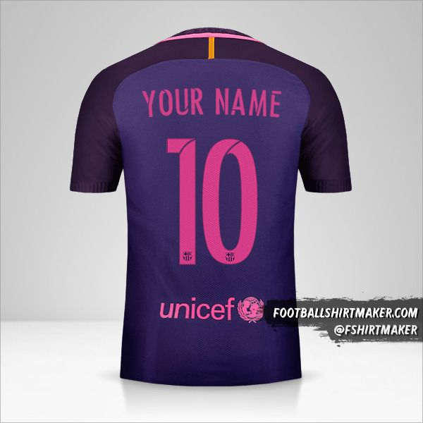 FC Barcelona 2016/17 II shirt number 10 your name