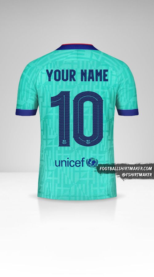 FC Barcelona 2019/20 Cup III shirt number 10 your name
