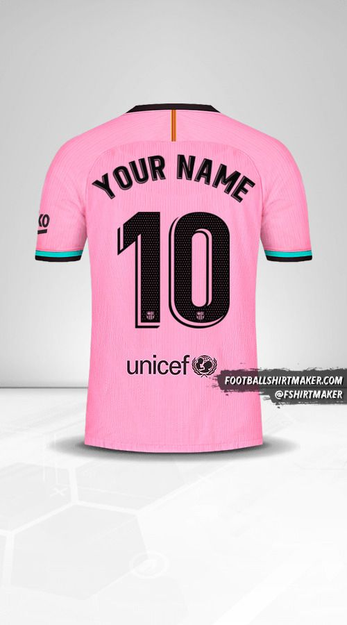 FC Barcelona 2020/21 III shirt number 10 your name