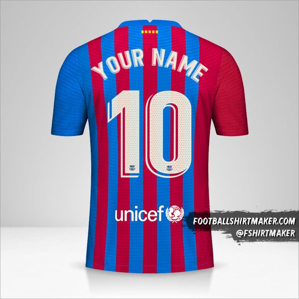 FC Barcelona 2021/2022 shirt number 10 your name