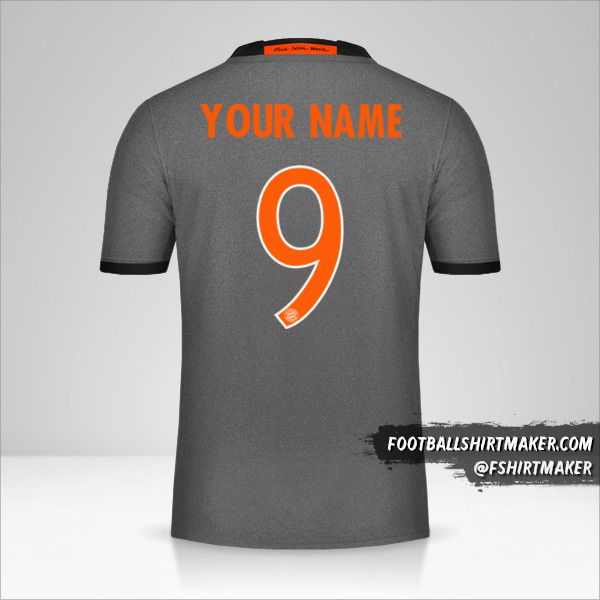 FC Bayern Munchen 2016/17 Cup II shirt number 9 your name