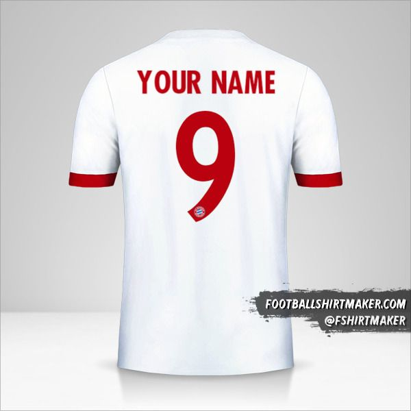 FC Bayern Munchen 2017/18 Cup III shirt number 9 your name