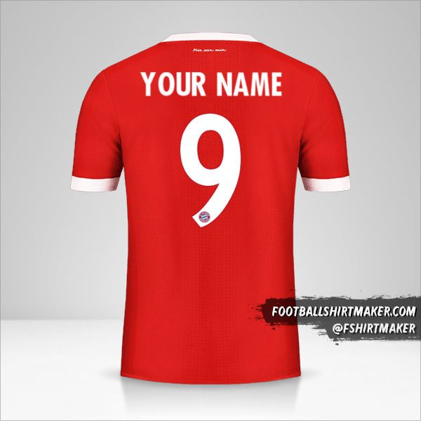 FC Bayern Munchen 2017/18 Cup shirt number 9 your name