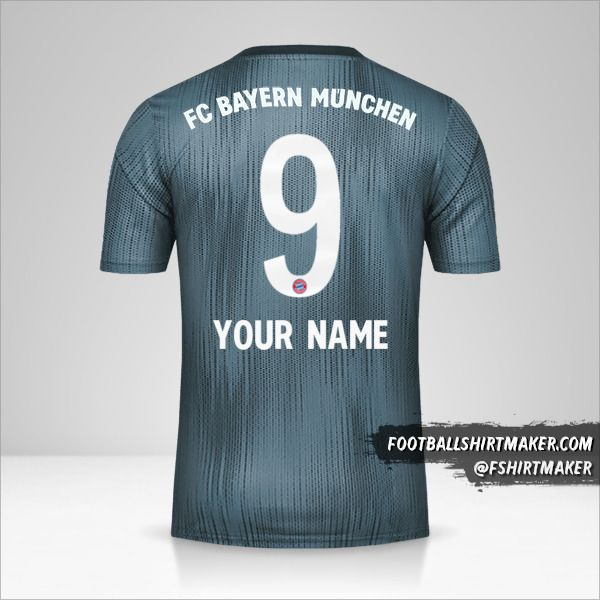 FC Bayern Munchen 2018/19 III shirt number 9 your name
