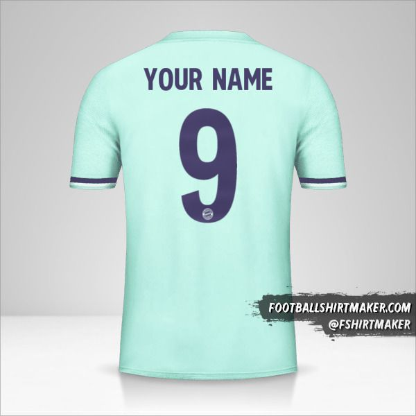 FC Bayern Munchen 2018/19 Cup II shirt number 9 your name